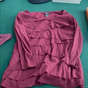 Long sleeve ruffle blouse
